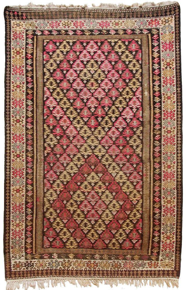 220x146 cm antik orient Teppich kaukasische Nomaden Sanne kelim kilim Nr-14