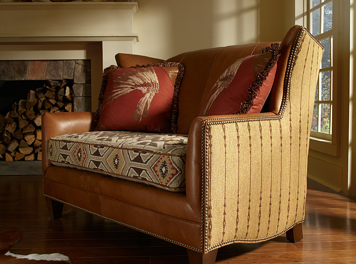 trendy western  living room style upholstered furniture