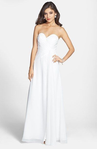 a7c9f7718e51 FAVIANA Sweetheart Chiffon Gown (Online Only) available at #Nordstrom  Spearmint