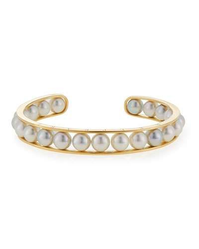 au listing il bangle bangles bracelet simple pearl gold white