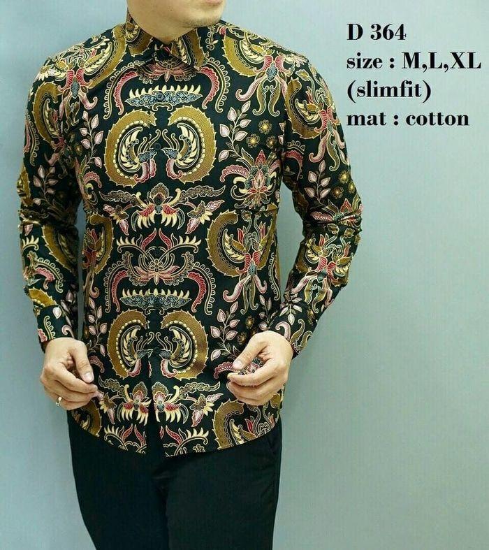 Kemeja Batik Pria Baju Lengan Panjang Baju Batik Modern OF 57