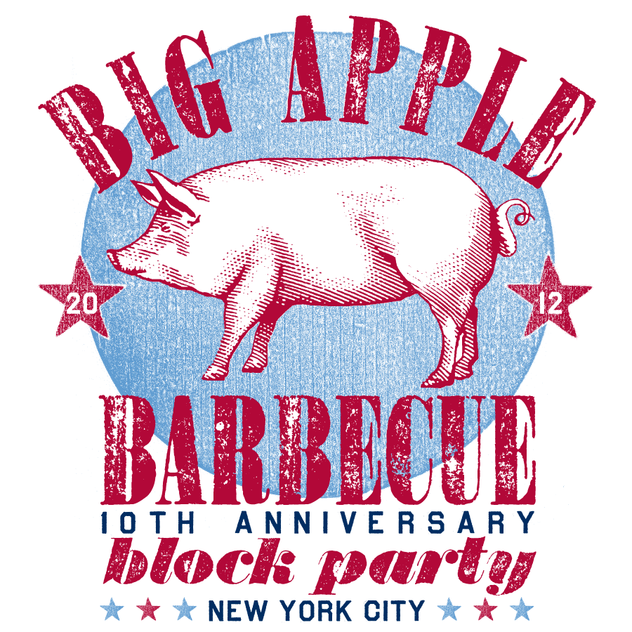 Big Apple BBQ TShirt Design Logo Design Graphic