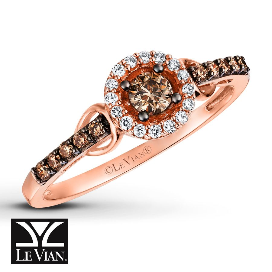 Le Vian LeVian Chocolate Diamonds 1/3 cttw Earrings 14K Strawberry Gold 6n9PZdrBD3