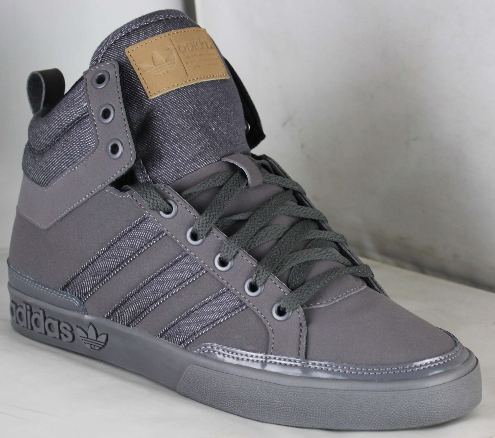 Adidas Originals Top Court Men's HI TOP TRAINER GREY (UK9