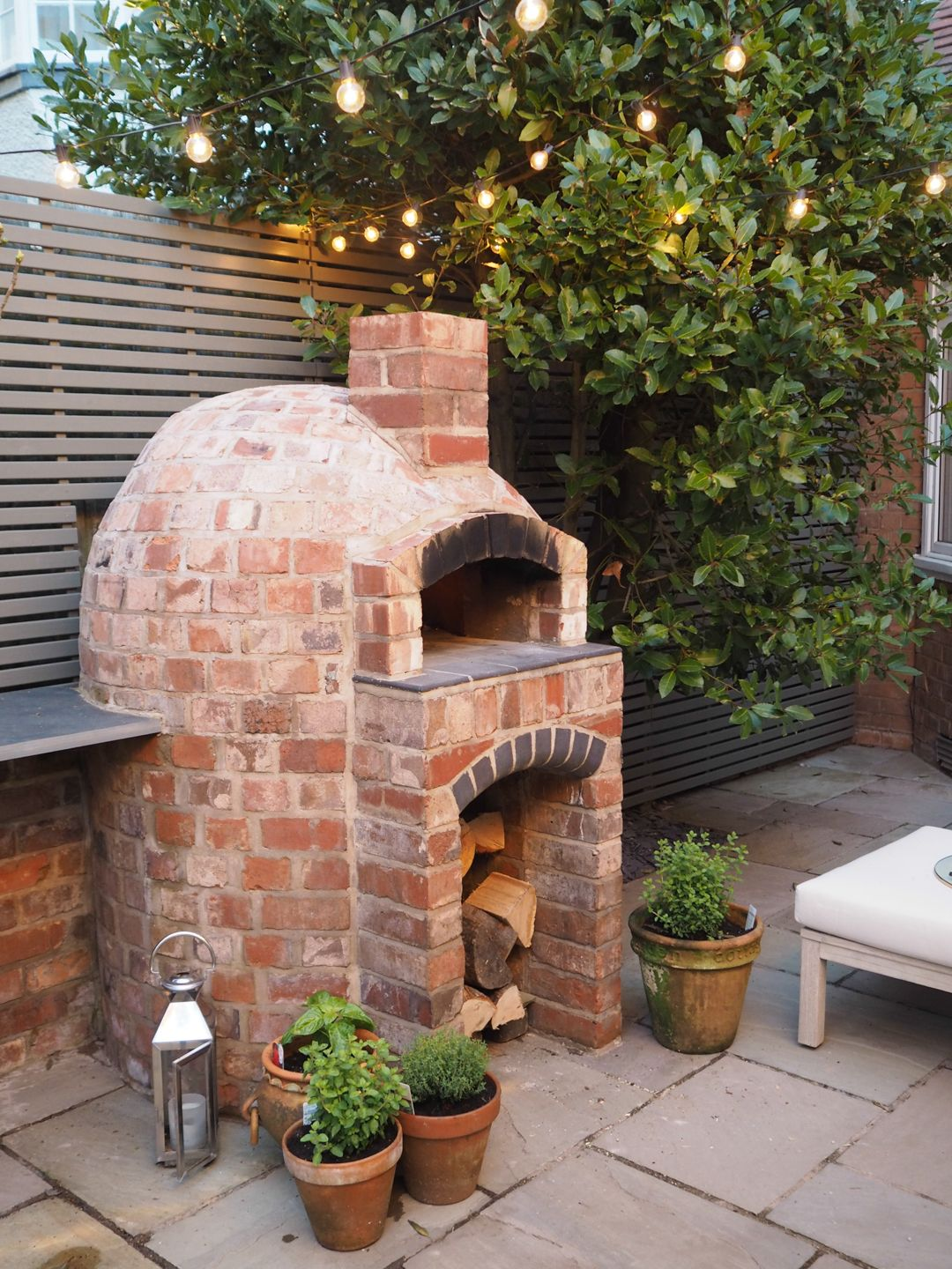 Installing a wood fired pizza oven in our garden