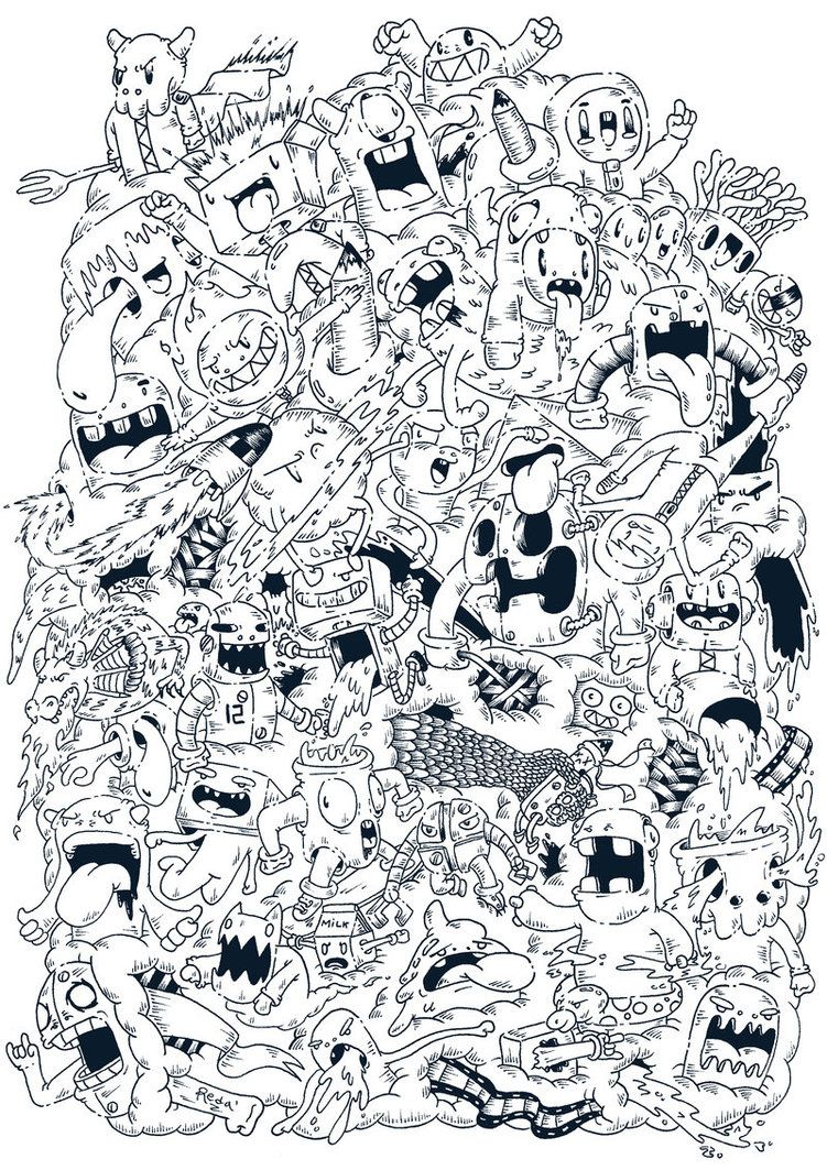 weird coloring pages - photo#34