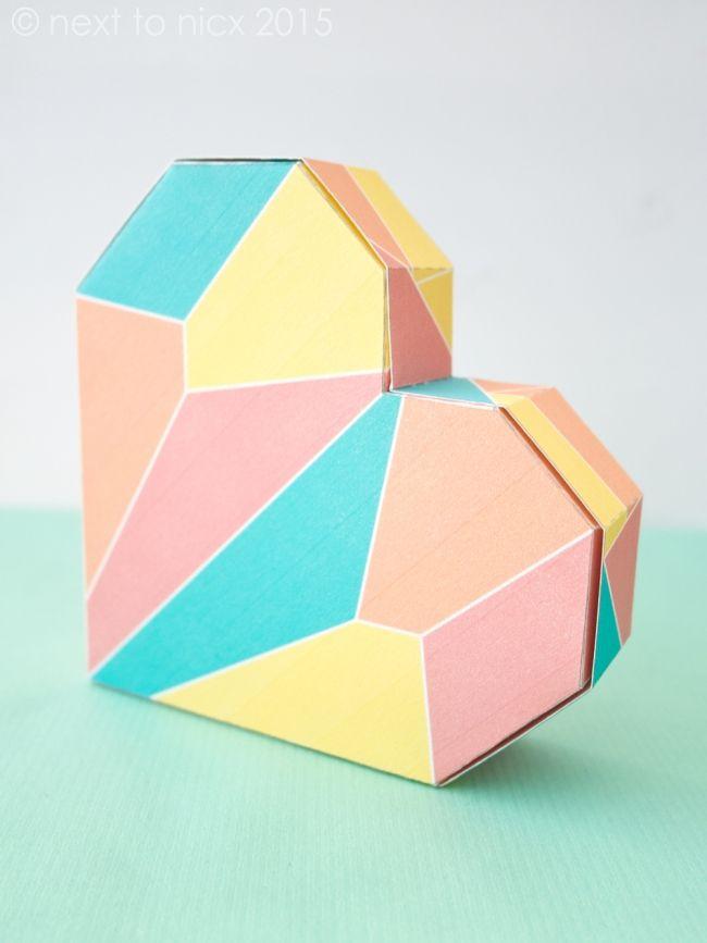 Heart Shaped Box Template | Craft | Diy gift box template ... - photo#16