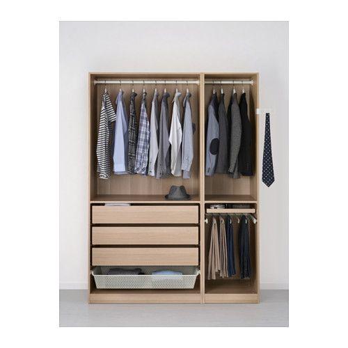 PAX Kleiderschrank - 150x60x201 cm, Scharnier, sanft schließend - IKEA