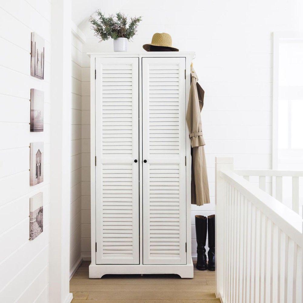 Armadi Guardaroba Maison Du Monde.Witte Houten Garderobe B86 Maisons Du Monde Schrank Kleiderschrank Neue Wohnung
