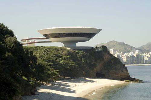 Niemeyer Museum of Contemporary Arts in Niterói, Rio de Janeiro, Brazil. Oscar Niemeyer