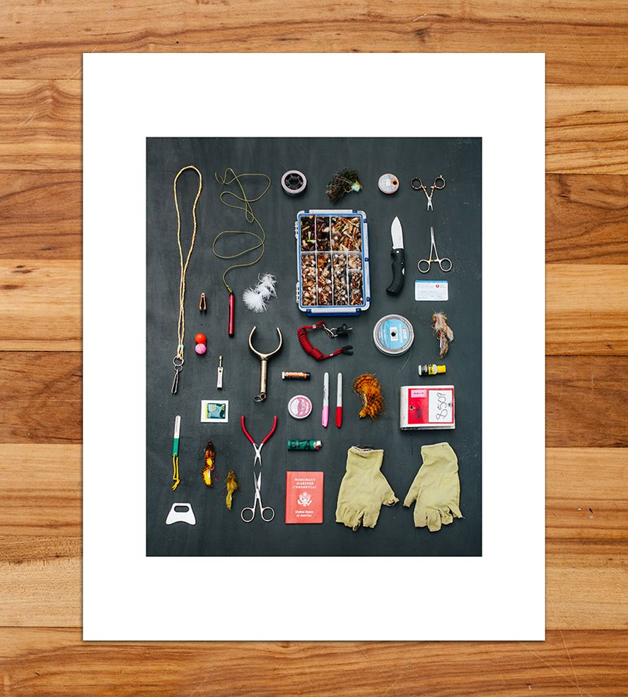 Fly Fishing Tools Taxonomy Photo Print | Add this tidy taxonomy snapshot to your mix of wall art for a ... | Posters