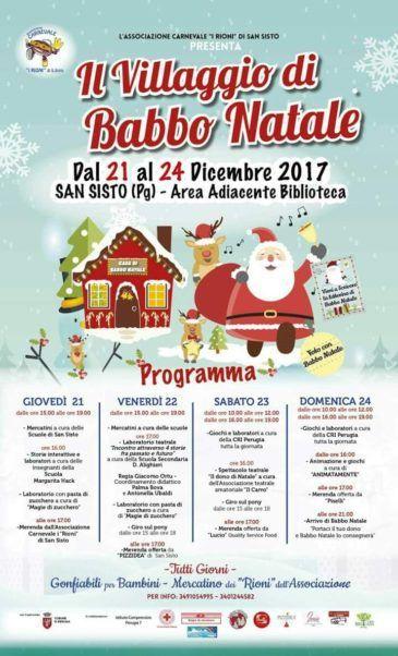 A San Sisto torna Il Villaggio di Babbo Natale Babbo