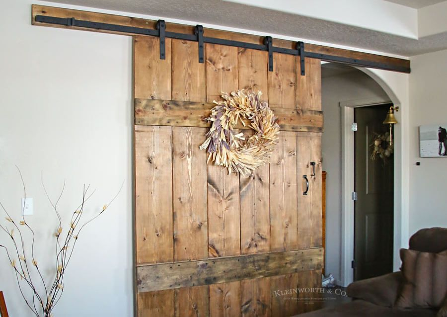 This Wide Rustic Barn Door Is 6 Feet Wide Made For Extra Large Doorways It S Incredibly Simple To Make Add Indoor Barn Doors Barn Door Interior Barn Doors