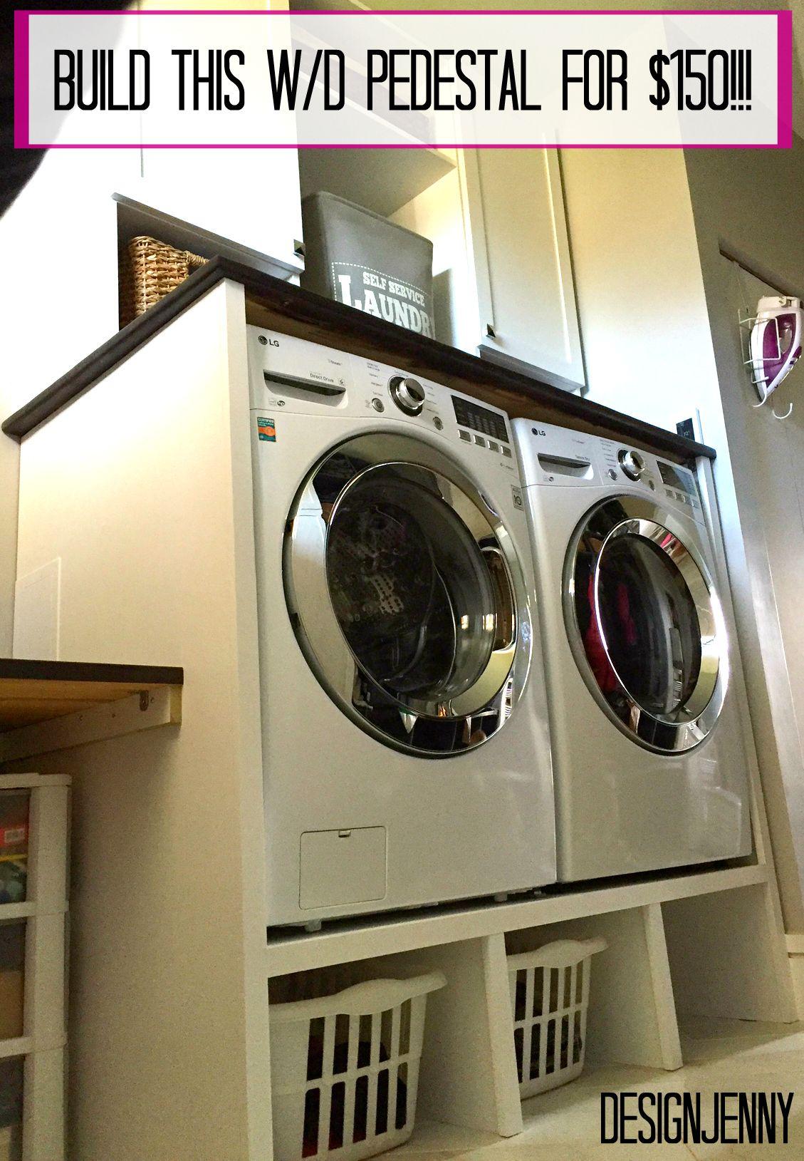 Washer And Dryer Pedestal Surround Tutorial Waschesockel