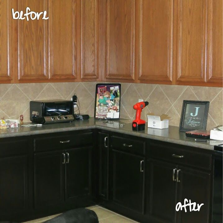 11 Lovely Restoring Kitchen Cabinets: Staining The Kitchen Cabinets