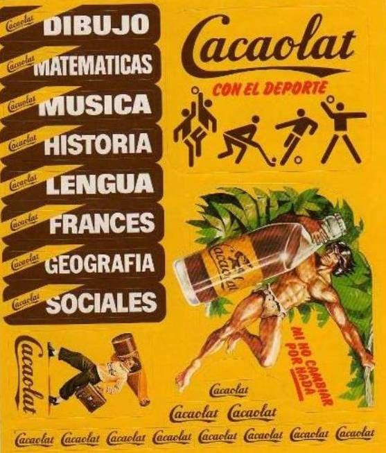 Promo etiq. adhesivas Cacaolat, 1970