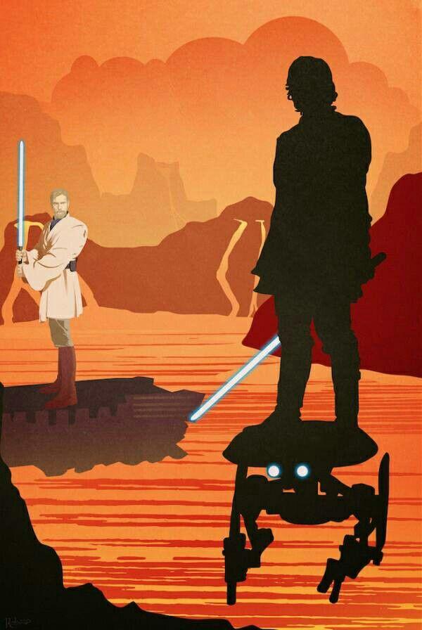 Anakin Vs Obi Wan Star Wars Art Star Wars Poster Awesome Star Wars Art