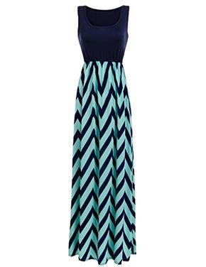Chevron Maternity Maxi Tank Dress