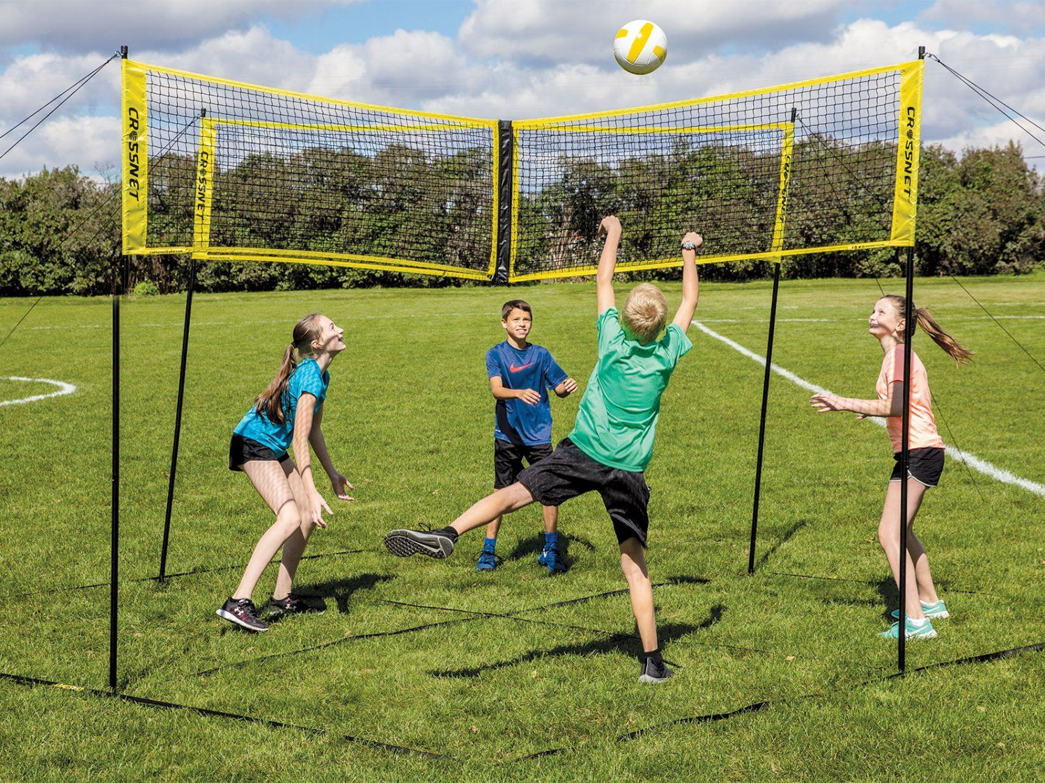Crossnet The Game Your Pe Class Needs Volleyball Net Volleyball Games Volleyball Skills