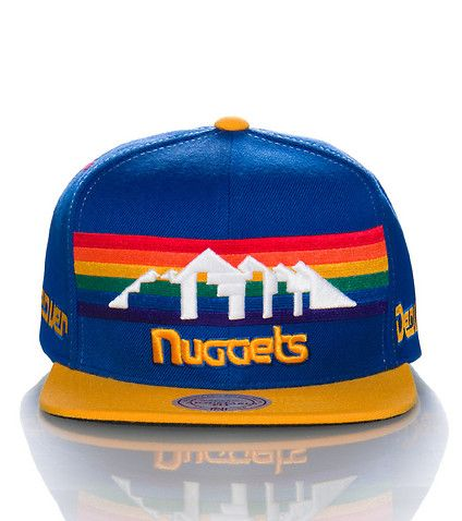 MITCHELL AND NESS MENS DENVER NUGGETS NBA SNAPBACK CAP Blue  2fc8b5c0fee