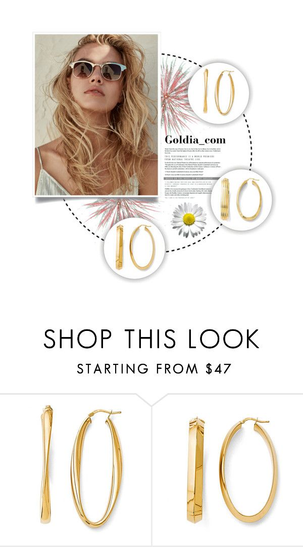 """My Gold Earrings Collection"" by goldia on Polyvore featuring gold, jewelry, gold_jewelry and fashion_accessories"