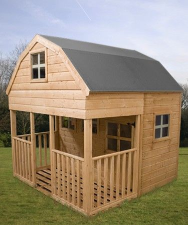 kids two floor dutch barn wooden playhouse childrens garden play house
