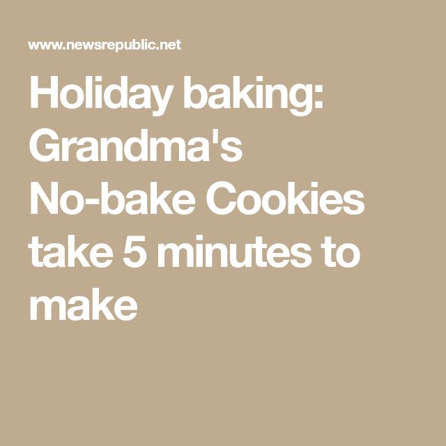 Holiday baking: Grandma's No-bake Cookies take 5 minutes to make