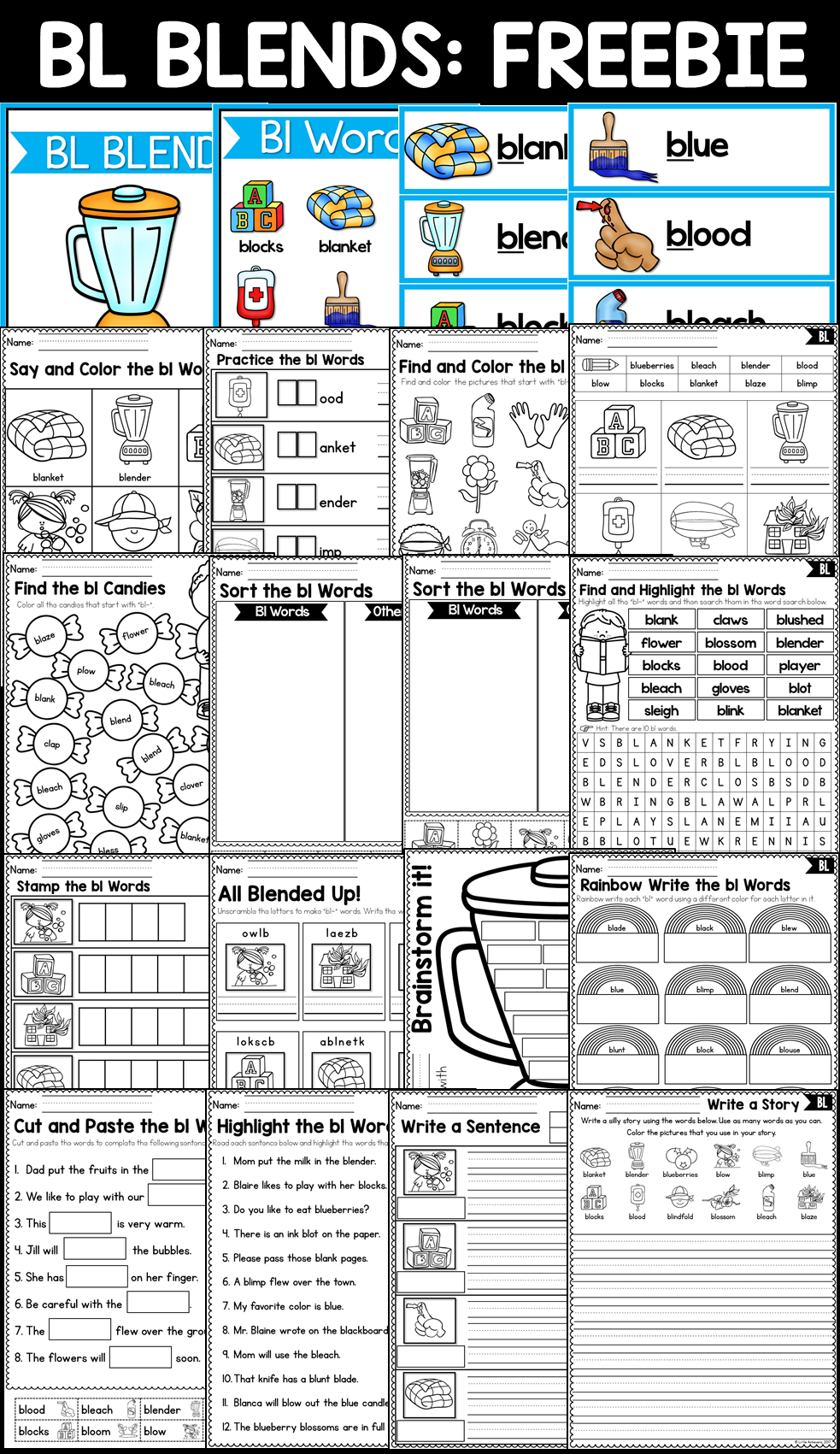 worksheet L Blend Worksheets beginning consonant blends worksheets l r and s activities