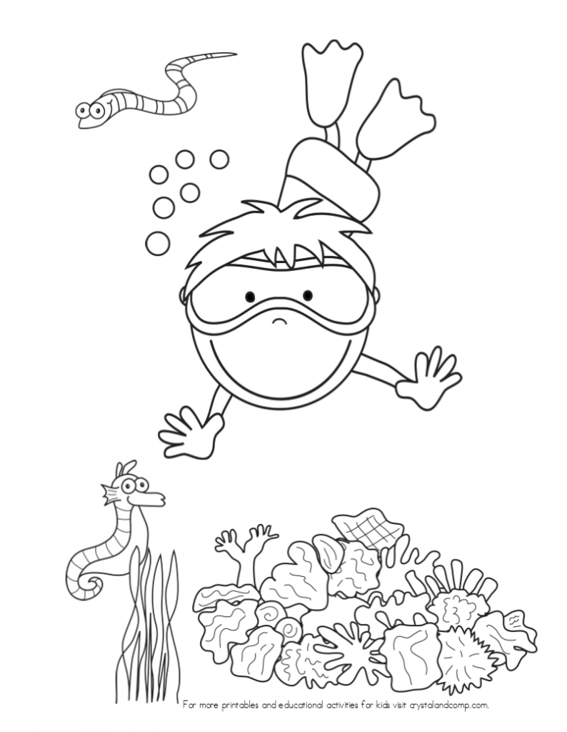 Kid Color Pages Under The Sea Under The Sea Crafts Coloring For Kids Coloring Pages