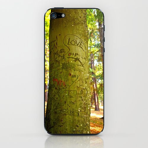 Autumn love iPhone & iPod Skin