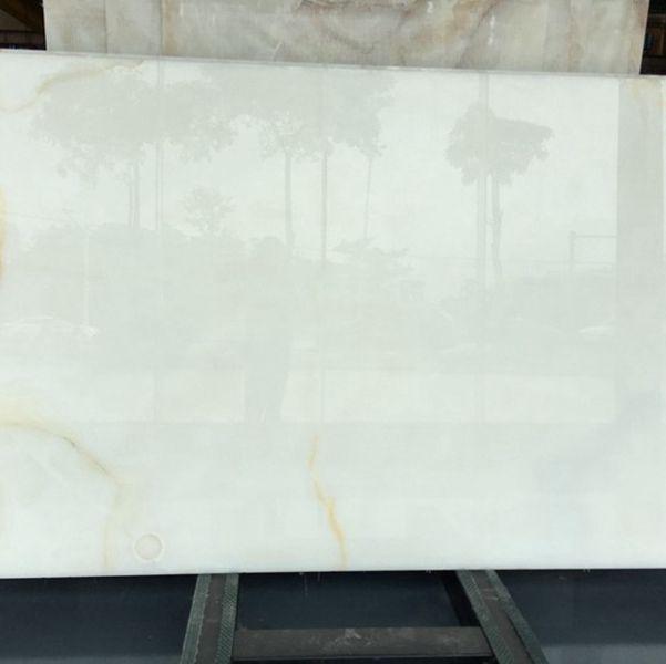 Snow White Onyx Marble Slabs Countertops Table Top Tiles