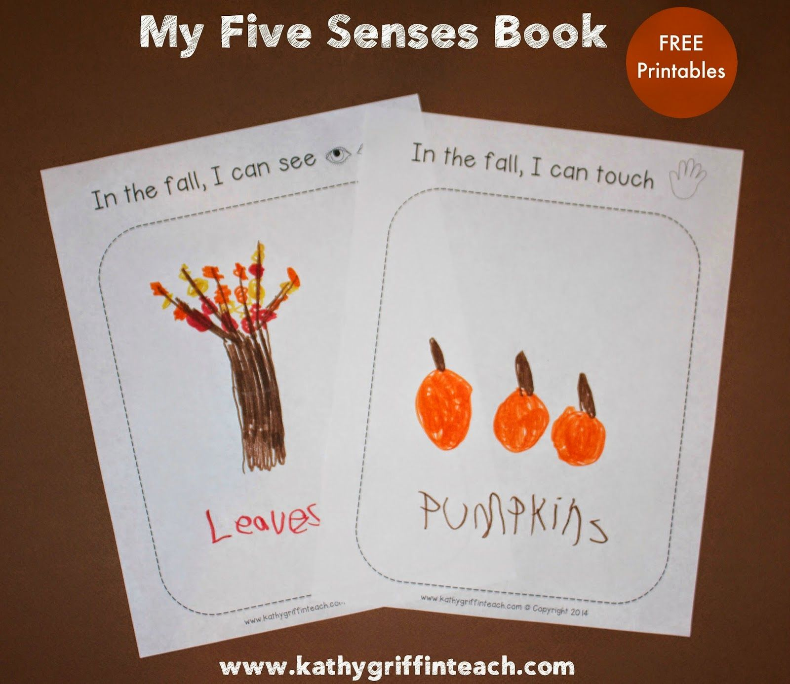 Five Senses And Fall Free Printables