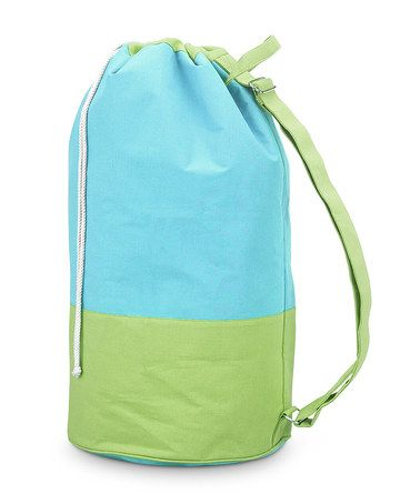 Take a look at this Turquoise & Green Color Block Monogram Camp Duffel by Buckhead Betties on #zulily today!