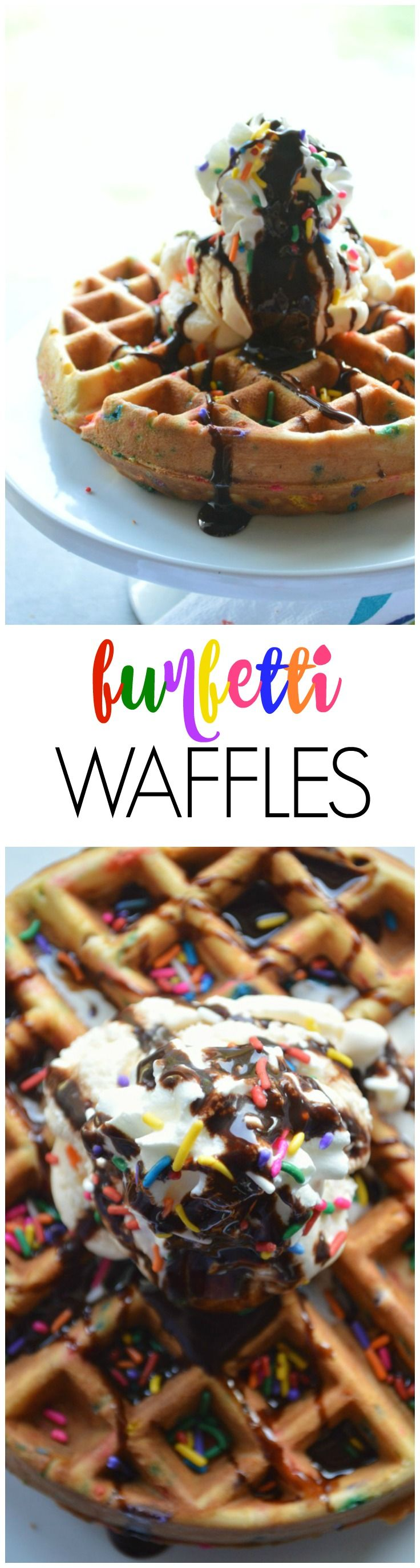 Funfetti waffles cake recipes waffle recipes sweet