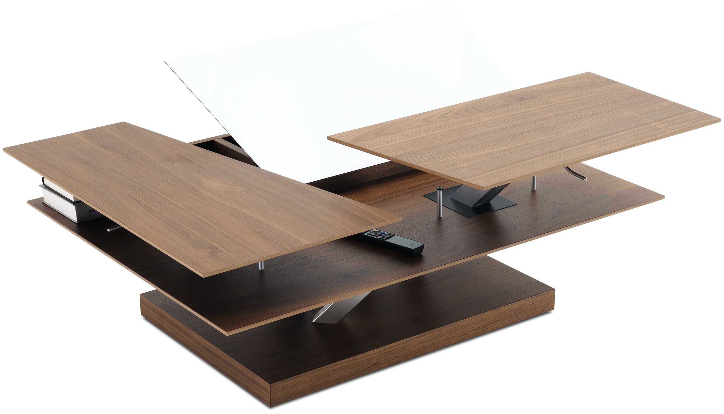 Barcelona Functional Coffee Table With Storage Available In Different Colors As Shown Walnut Ven Coffee Table Coffee Table With Storage Modern Coffee Tables [ 1602 x 2800 Pixel ]
