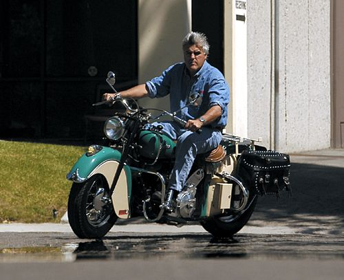 Art print POSTER CANVAS Jay Leno on Motorcycle