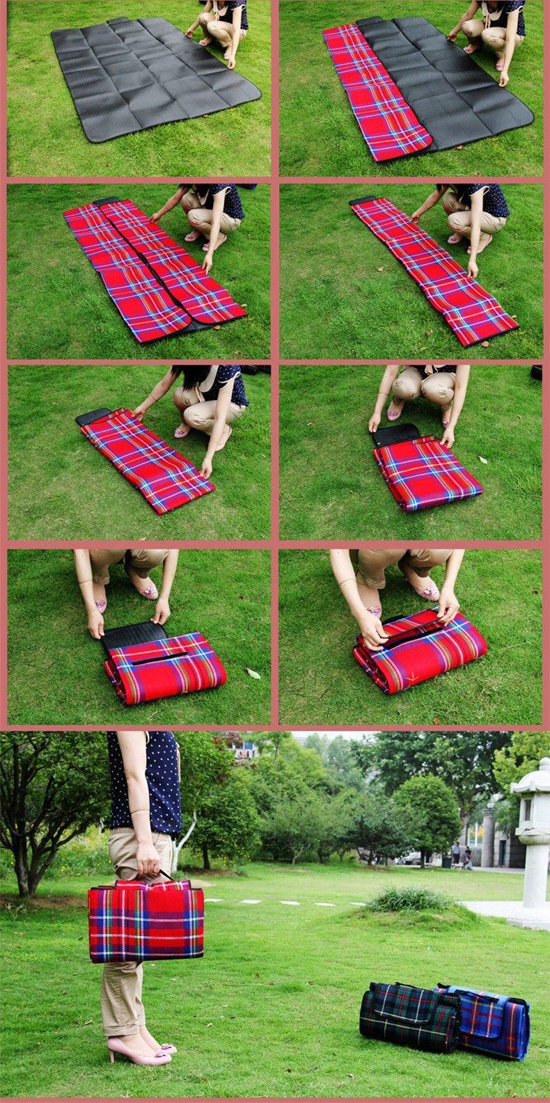 5 Size Outdoor Beach Picnic Folding Camping Mat Waterproof ...