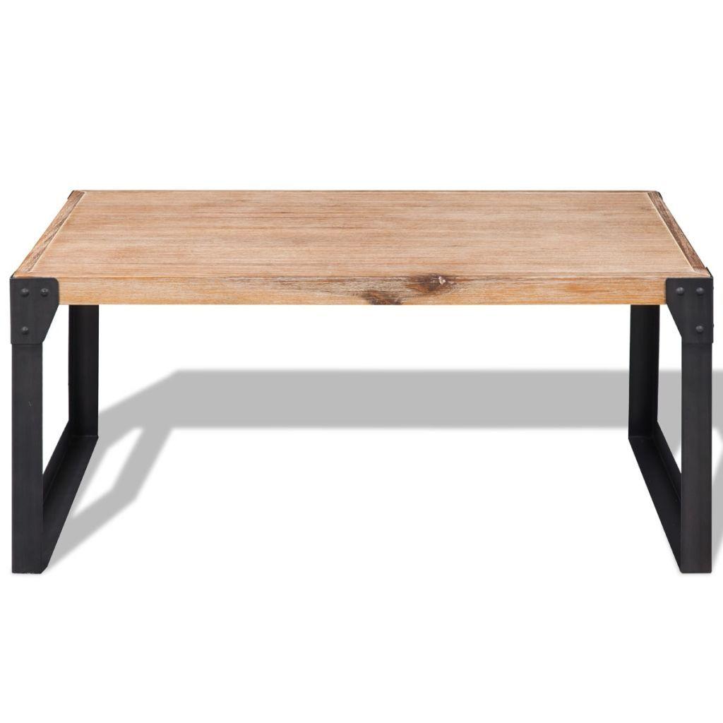 ZUN Coffee Table Solid Acacia Wood 39.4