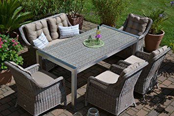 Billig Gartenmöbel Polyrattan Set