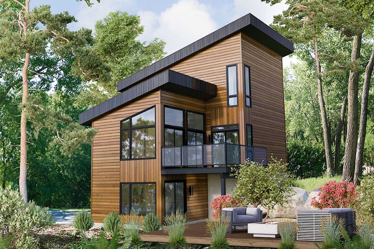 Plan 80923pm Dramatic 3 Bed Modern House Plan In 2021 Modern House Plan Contemporary House Plans Craftsman House Plans