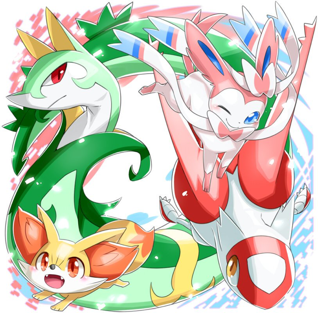 Fennekin And Sylveon