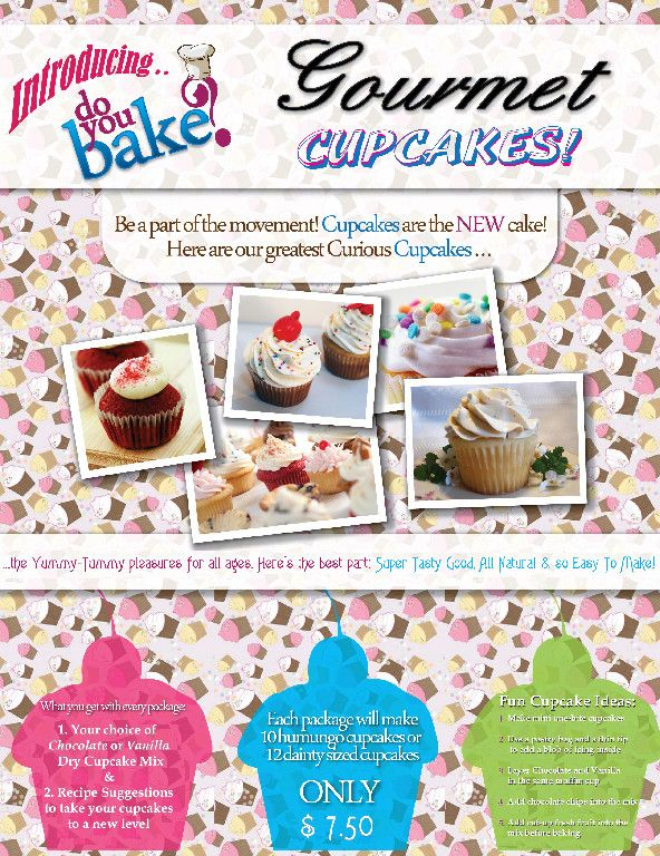 Downloadable cupcake Sale Flyer Do You Bake? - A Review by Wendy - bake sale flyer
