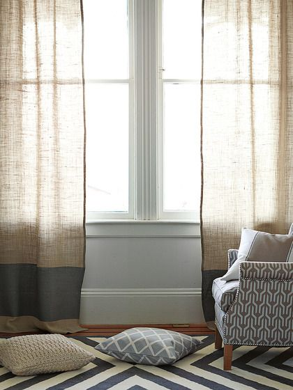 Burlap Color Block Window Panel By Serena Lily At Gilt