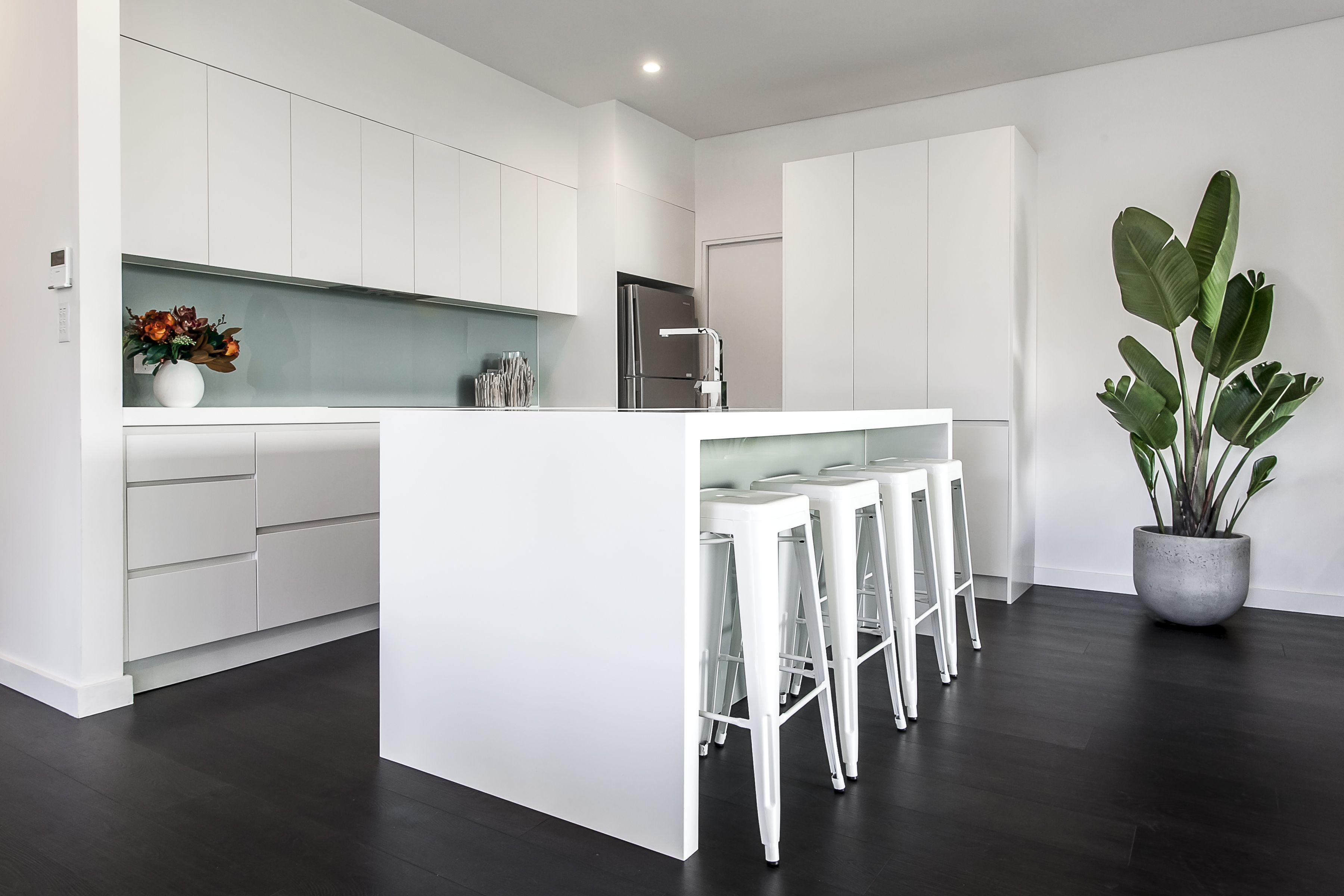 A kitchen renovation at a property constructed by Matthew Campbell ...
