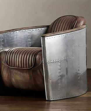 Fauteuil Aviateur Cuir Et Aluminium In 2020 Sofa Chair Furniture Collections Metal