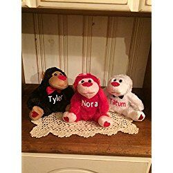 Personalized Valentine S Day Plush Gorilla Monkey Stuffed Toy Monkey Plush Personalized Valentines Valentines Day Teddy Bear
