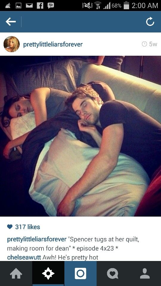 Dean And Spencer Sleeping Pretty Little Liars Pinterest Pretty