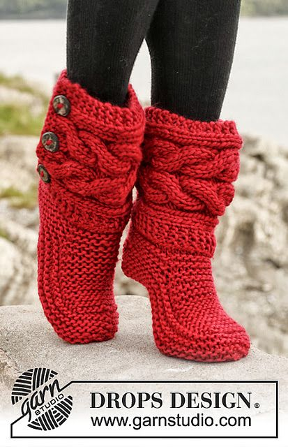Iknits Cable Slippers Knitted Ugg Boots Knitting Patterns