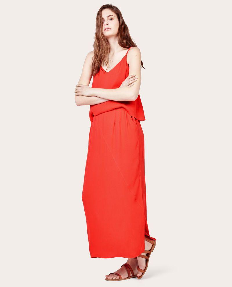Robe longue rouge comptoir des cotonniers