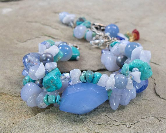 Throat Chakra Bracelet 5th Chakra Jewelry Yoga Jewelry